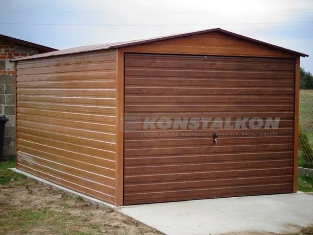 Garaż blaszany drewnopodobny PRODUCENT Garaże blaszane Blaszak