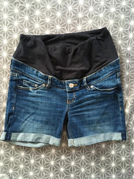 Krotkie Spodenki ciążowe HM h&m mama 38 jeansowe