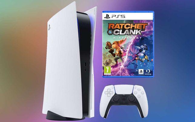 Bundle Playstation 5 Versão Standart SELADA + Ratchet + Comando Extra