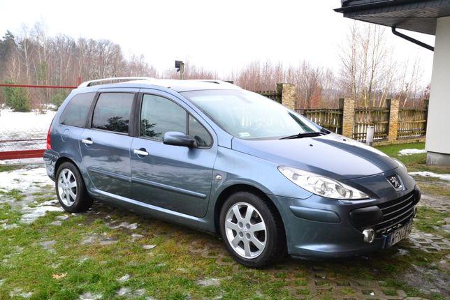 Peugeot 307 SW, 2.0 HDi, 136 KM (7 miejsc, kamera cofania, nawigacja)