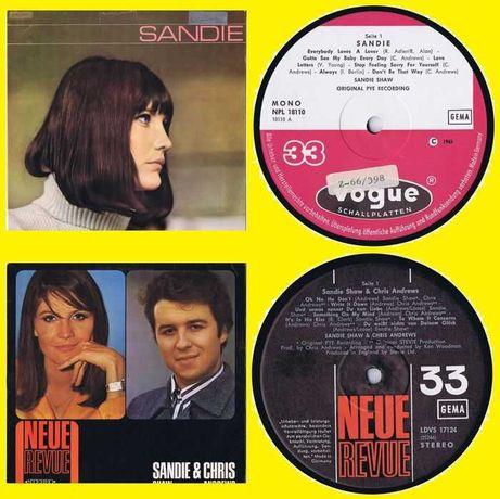 2 LPs Novos -Sandie Shaw & Chris Andrews - same - 2. Sandy Shaw