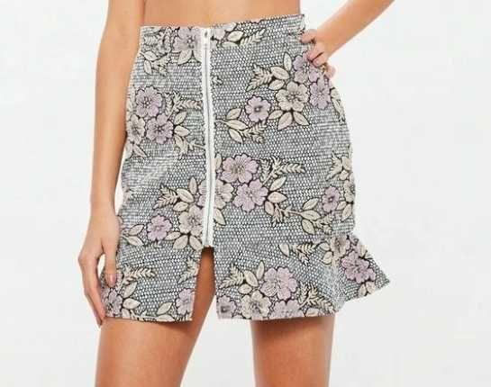 Mini spódnica w kwiaty Missguided r. 38 M