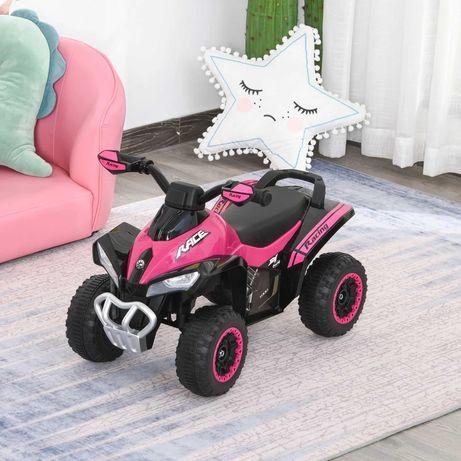Nowy quad buggy pchacz jeździk różowy na baterie 18-36 miesięcy