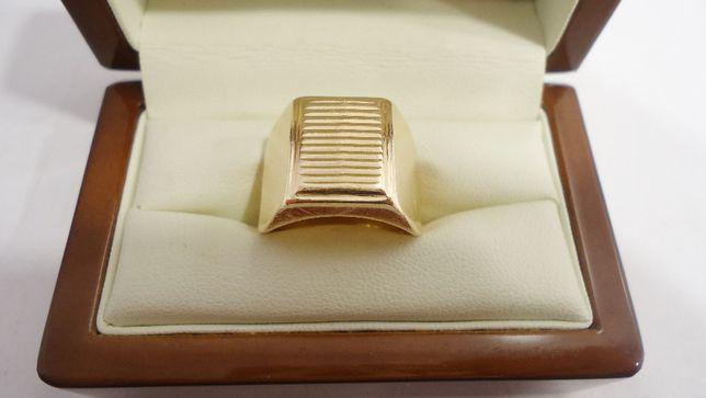 Złoty sygnet 583 rozmiar 19
