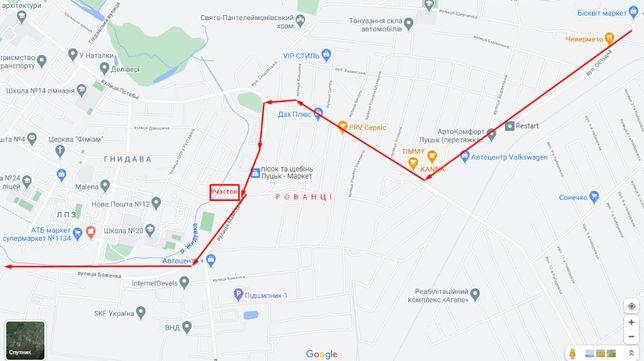 Ділянка/Участок 9+4соткі над дорогою обїзною комерційнерозташуваня