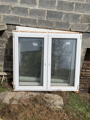 Okna pcv białe, jak nowe! Komplet 3 szt + balkonowe.