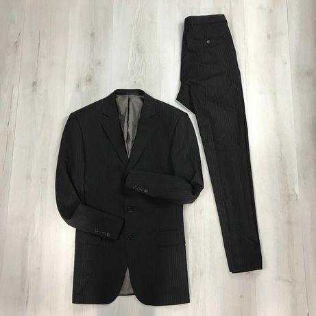 M Костюм винтажный полушерстяной приталенный пиджак брюки M&S
