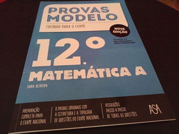 Provas modelo exame matemática A 12 ano