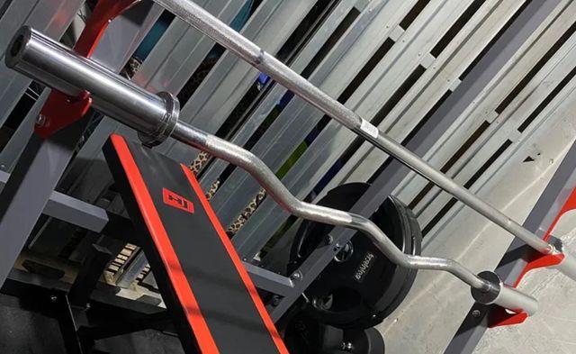 Gryf olimpijski NOWY łamany 120 cm