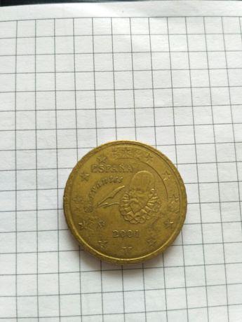Монета 50 євроцент