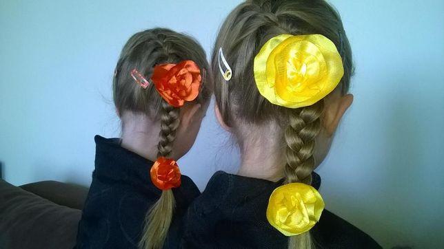 Kwiaty do włosów na frotce 8 i 9 zł.