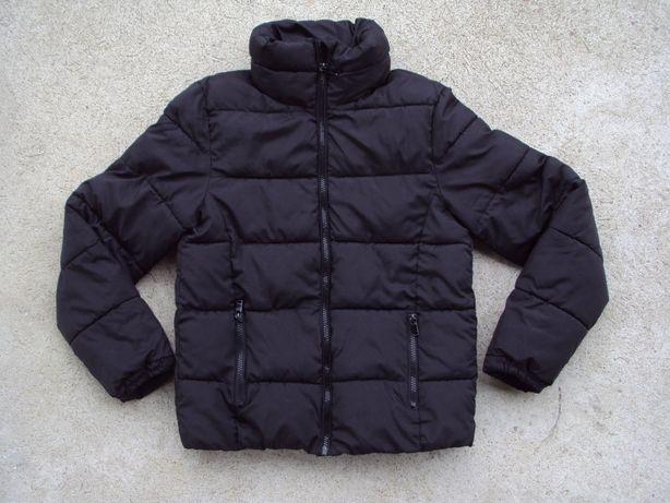 H&M czarna kurtka na zimę 152-158 jak nowa