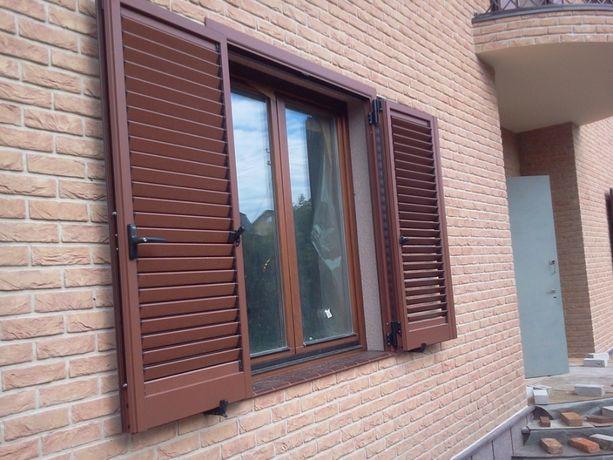 Алюминиевые защитные распашные ставни Италия
