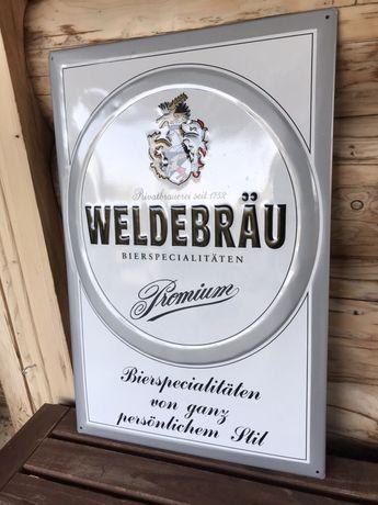 Prezent Tablica reklamowa WELDEBRAU blacha, do pubu, altany itp