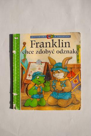 """Książeczka dla dzieci z serii Franklin, tom """"chce zdobyć odznakę"""""""