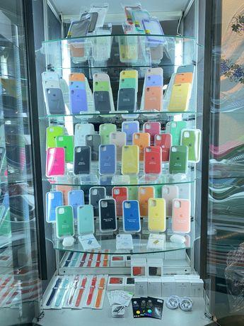 Силиконовый чехол для iPhone 7,8+,10,X,Xs,Xr,11,12 Pro Max КАЧЕСТВО!!!