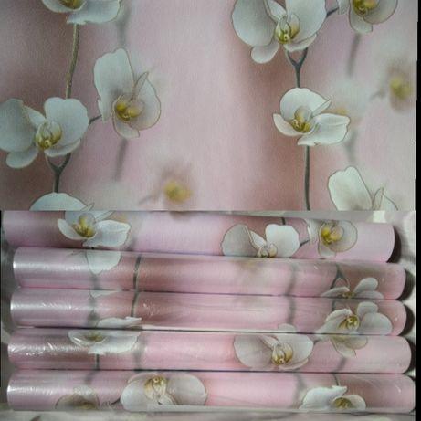 Обои шпалери красивые розовые с цветочками