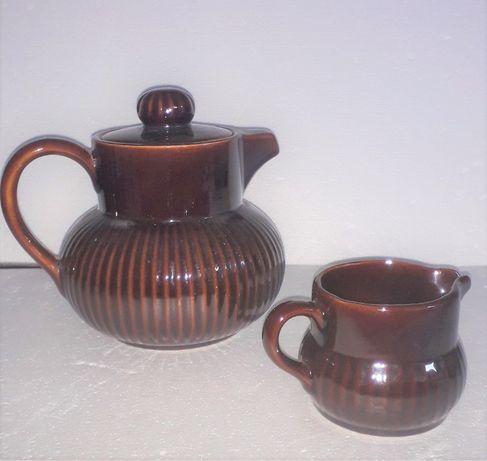Conjunto chaleira e leiteira em cerâmica das Caldas - SECLA