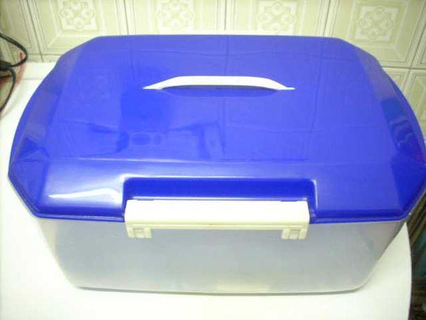 Kit cozinha em plástico de cor azul - Bom estado
