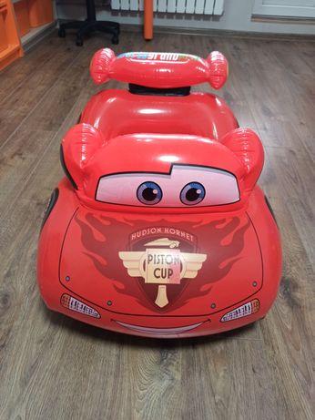 Детский надувной плотик -Машина Тачки Молния Маквин, размер 109х 71