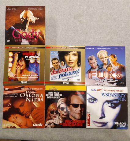 Zestaw 7 filmów DVD polskie i zagraniczne