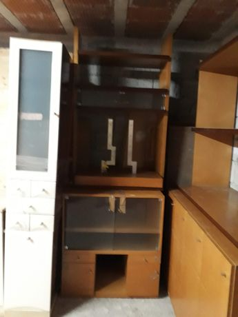 Móvel de Sala com Base rotativa de TV + Estante com Prateleiras
