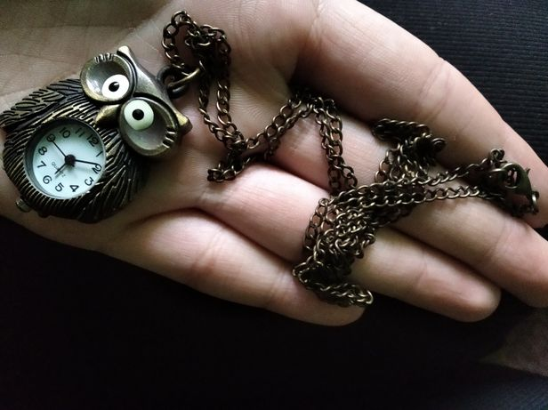 Sowa naszyjnik/ zegarek