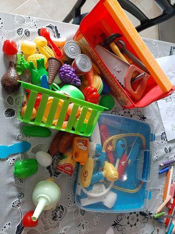 Zestaw zabawek owoce warzywa zestaw budowniczy lekarski