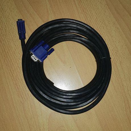 Vga Кабель (D-sub)VGA - VGA 5метров Новый + SATA кабель в подарок