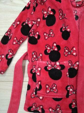 Szlafrok malinowy z Myszką Mickey rozm. 92-98