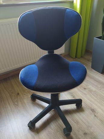 Krzesło biurowe krzesełko obrotowe dziecięce młodzieżowe niebieskie
