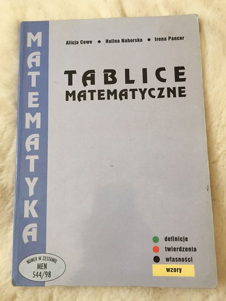 Tablice matematyczne A.Cewe,H.Na