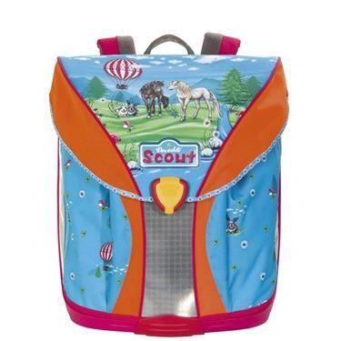Tornister SCOUT NANO + torba sportowa plecak, 1 klasa, konie szkoła