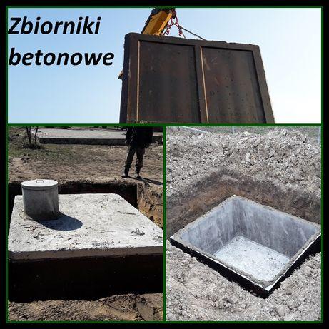Zbiornik betonowy na szambo gnojówkę deszczówkę Szamba betonowe