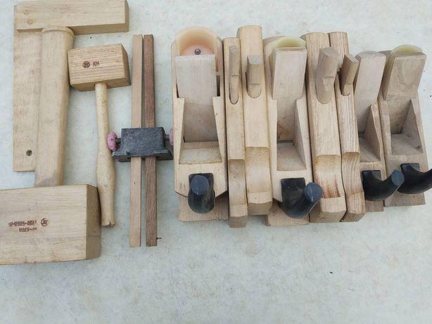 Инструмент по дереву, набор столярной рубанок, набір столярний