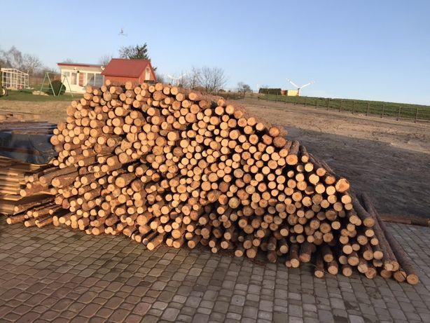 Stempel stemple drewniane budowlane steple Stepel podpory słupki