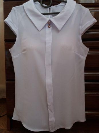 Блузка школьная на 10-15 лет.(+ подарок)
