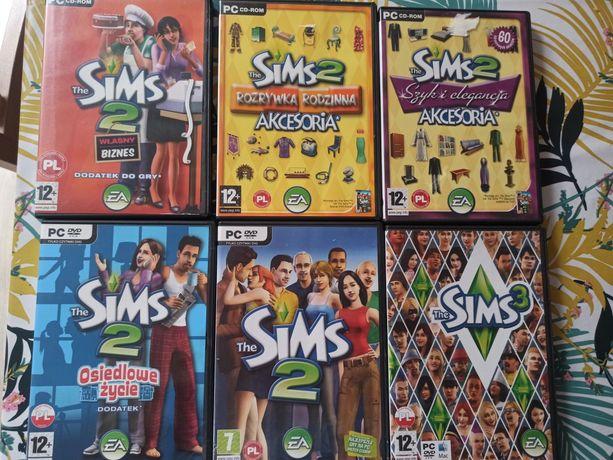 The Sims 2, 3 plus dodatki: Własny biznes, Osiedlowe życie i akcesoria