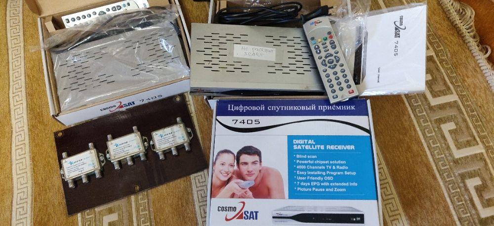 Спутниковое оборудование (комплект 3шт) б/y тюнер,антенна,ресивер Київ - зображення 1