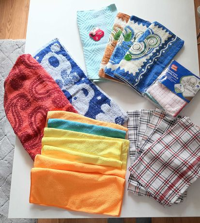 Ścierki ręczniki ściereczki kuchenne do kuchni mikrofibra z mikrofibry