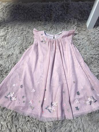Szyfonowa sukienka tiul h&m 122
