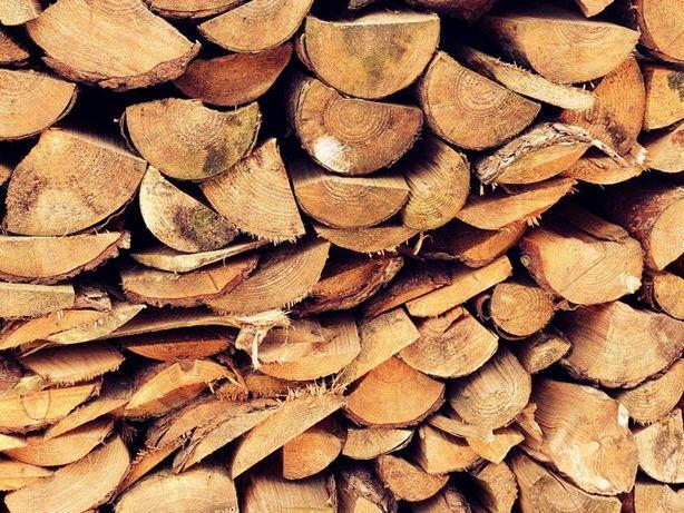 Drewno sosna opałowa pocięta porąbana