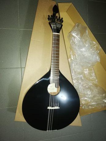 Guitarra portuguesa fado Coimbra preta + kit