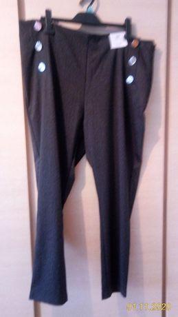 F&F spodnie skinny legginsy duże r.48