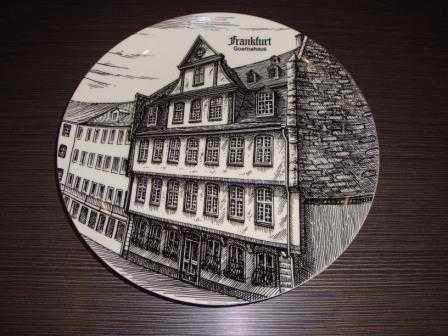 Большая немецкая, интерьерная тарелка Frankfurt  (д-24см)