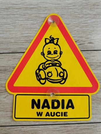 Nadia tabliczna do samochodu