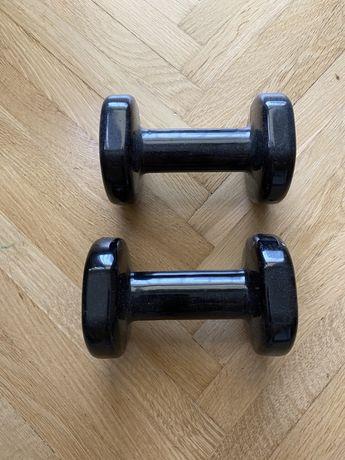 Domyos Hantelki, hantle, 6kg zestaw cieżarków 2x 3kg fitness