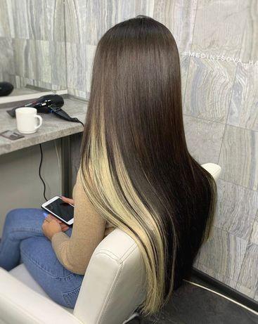 Срез волос для наращивания 100 гр 65 см шоколад/блонд