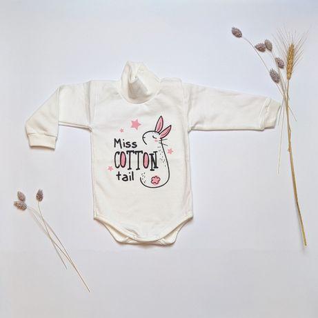Детская одежда Боди-гольф с начесом для девочек