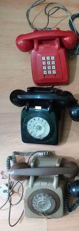 3 telefones de disco antigos anos 80